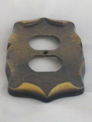 Vintage Brass Electrical Socket Outlet Cover Plate