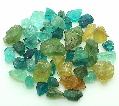 Natural Unheated Mixed Color APATITE Specimen Rough Lot 50.12cts