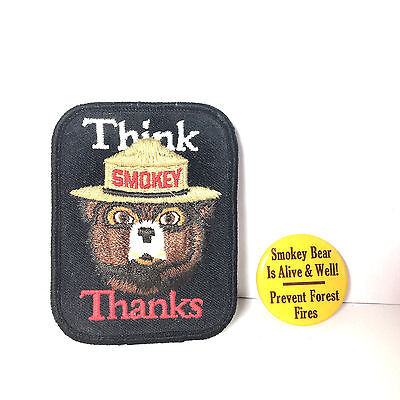 Think Smokey Bear Thanks Badge Is Alive And Well Prevent Forest Fires Pin