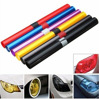 30 x 60cm Car Vehicle Shade Taillight Headlight PVC Foil Vinyl Film Cover 3Color