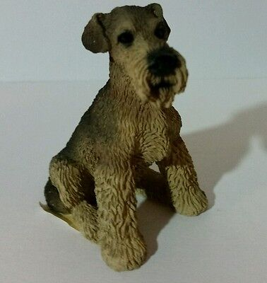 "Living Stone Airedale Terrier Dog 2.25"" Miniature Figurine - 1990"