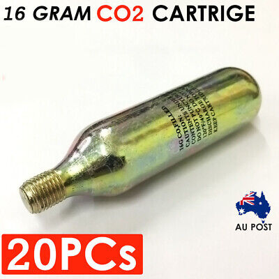 20x 16g Co2 Threaded Cartridge Tyre Air Inflator Bike Bicycle