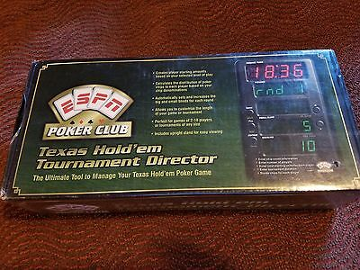 ESPN Poker Club Texas Hold em Tournament Director Free Shipping! New/Sealed