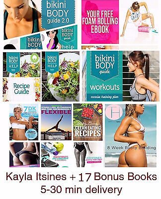Kayla Itsines BBG - ALL 15 BOOKS Upgrade 2017 + 17 Bonus books of diet plans