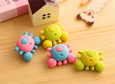 3Pcs Cute Rubber Crab Eraser Kid Children Novelty Stationery Rubber Great