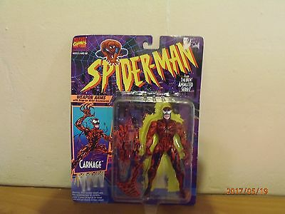 """SPIDER-MAN """"CARNAGE"""" 5"""" TALL 1994 Marvel Comics Animated TV Show!!!"""
