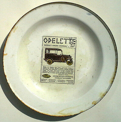 1929 Opel Motors Automobile Porcelain Advertising Plate 4/16 Tourer Gm Indonesia
