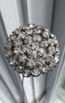 Beautiful Vintage Hat Pin -- Faceted Glass Decoration