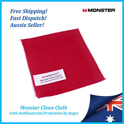 Monster Clean Cloth - Antibacterial Protection, Microfibre Screen Cleaning Cloth