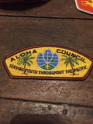 Vintage BSA Boy Scout Patch Aloha Council Serving Youth Pacific