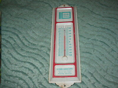 OLD Rainbow Advertising Thermometer- From Lee Farm & Garden Supply Store Bristol