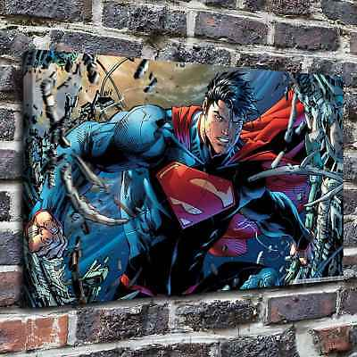 Superman cartoon Painting HD Print on Canvas Home Decor Wall Art Pictures 12X20