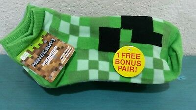 MINECRAFT socks, ankle 6 pack, plus bonus pair for a total of 7 pairs