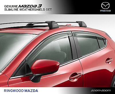 New Genuine Mazda 3 BM BN Slimline Weathershields set Accessory Part BM11ACWSSB