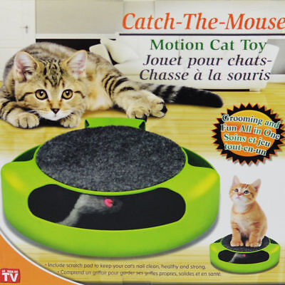 Catch The Mouse Cat Toy Motion Interactive Play Chase Scratchpad Training Kitten