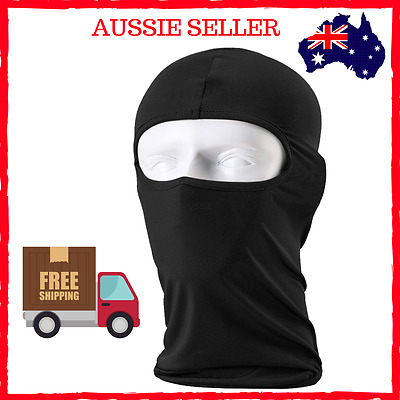 Balaclava Face Mask For Motorcycle Motorbike Snowboarding New Black
