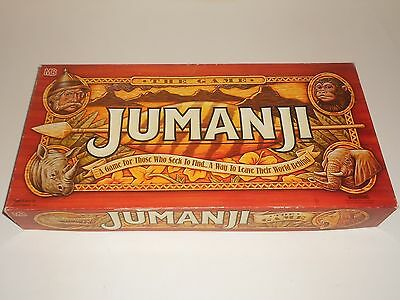Vintage 1995 JUMANJI Large Board Game (Incomplete)