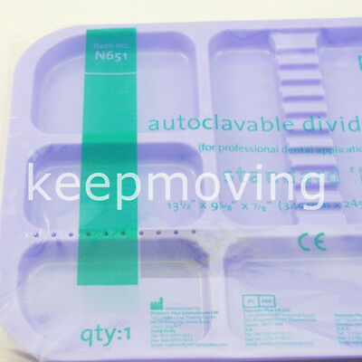 Dental Sterilized Autoclavable 135° Divided Separate Tray Plastic 245x340x2mm