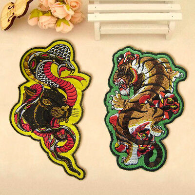 Snake Tiger Embroidery Sew On Iron On Patch Badge Clothes Dress Fabric Applique