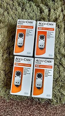 Accu Chek Mobile Test Strips x 4 Boxes - New & Sealed