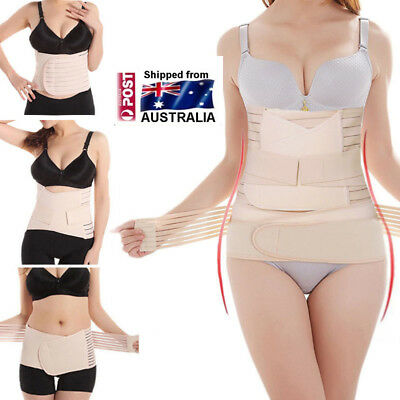 Postpartum Support Recovery Belly Waist Cincher Belt Maternity Body Shaper Set