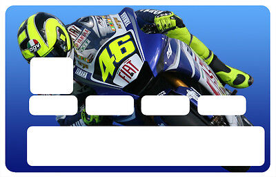Sticker  Moto Gp #46 Carte Bancaire Card Cb Skin Autocollant Sticker Cc008