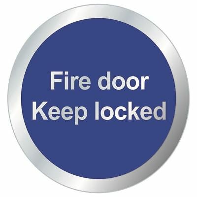 Safety Sign Fire Door Keep Locked 76mm RDS14 [SR11174]