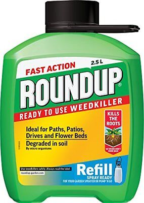 Roundup Fast Action Weedkiller Pump n Go Refill Pack  Ready to Use , 2.5 L