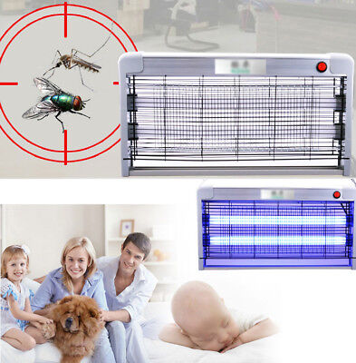LED Electronic Indoor Insect Mosquito Fly Bugs UV Lamp Killer Zapper Control