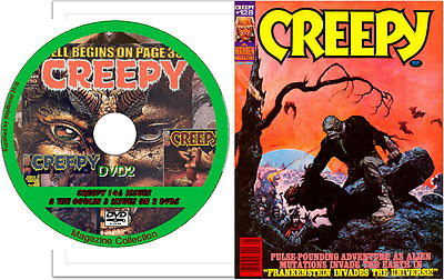 CREEPY 146 comics on 2 DVDs  & bonus  The Goblin 3 issues