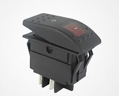1pc Red light DPST OFF/ON Boat Car Rocker Switch RK1-06 Double pole single throw