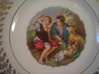 Liverpool Rd Pottery Cabinet Plate Begger Boys