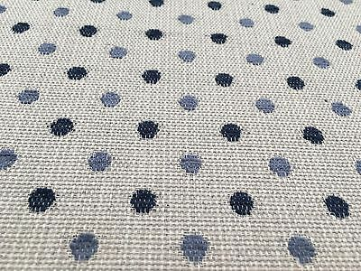 Fabric By Next ' Chenille Spot Navy '  Upholstery Fabric £5.99 Per Metre