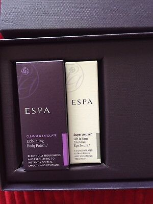 ESPA Mini Products Gift Box Eye Serum Body Polish New