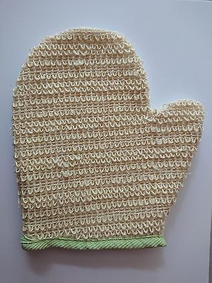 Natural Ramie Skin Exfoliating Bath & Shower Mitt Glove Scrubber Loofah Wash