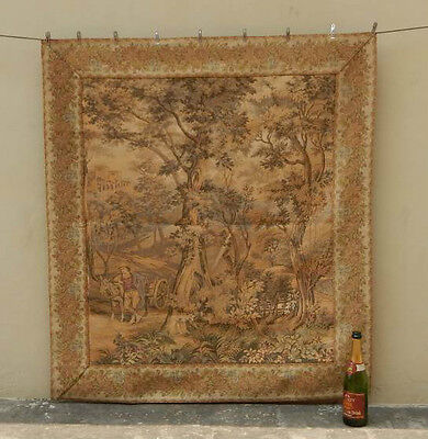 Vintage French Beautiful Scene Tapestry 121x111cm (A806)
