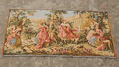 Vintage French Beautiful Party Scene Tapestry 100x50cm (A1129)