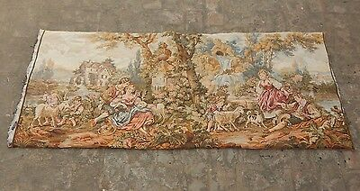 Vintage French Beautiful Pastoral Scene Tapestry 156X69cm (A1125)