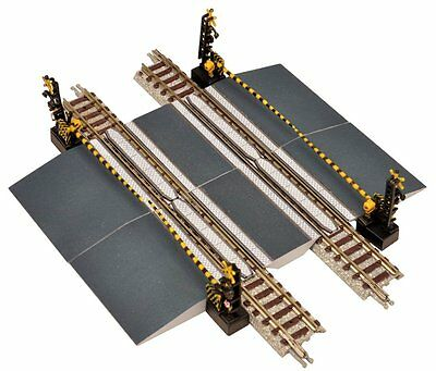 Dual Track Level Crossing With Gates (without Track) N Scale Tomytec 258667