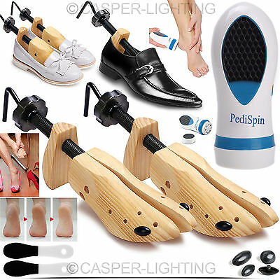 2 x MENS LADIES WOMENS SHOE STRETCHERS TREE WOODEN EASY SHAPER BUNION CORN LOT