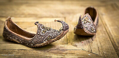 Tiny Pair of Sequinned and Beaded Persian / Ottoman Shoes