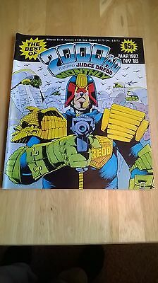 The Best Of 2000 Ad. Vintage Comic No 18.