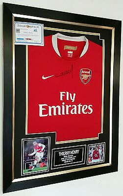 *** Rare Thierry Henry of Arsenal Signed Shirt Luxury Legend Display **