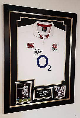 ** Autographed Owen Farrell SIGNED Shirt Display **