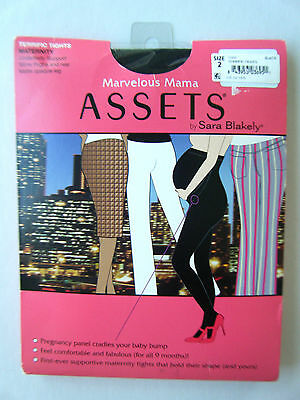 New Sz 2 Black Maternity Terrific Tights Marvelous Mama Assets by Sara Blakely