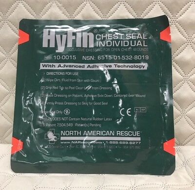 Hyfin Chest Seal NAR North American Rescue Exp 01/2020