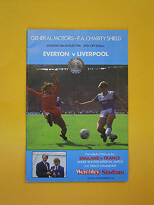 FA Charity Shield - Everton v Liverpool - 16th August 1986