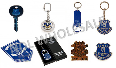 EVERTON FC Keyring Badge Bag Charm Door Key Bottle Opener Torch Gift