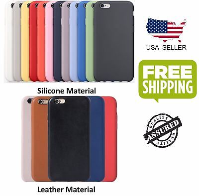 Ultra-Thin Original Genuine Silicone Leather Case Cover For iPhone 6 6s 7 Plus