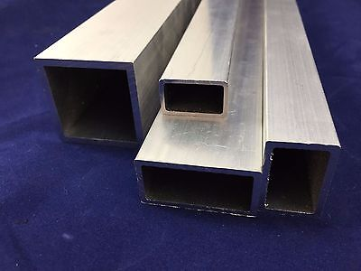 Aluminium Rectangular Tube Box Section Length 2000 mm 2500 mm 5000 mm